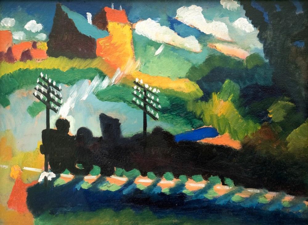 Murnau Trenyolu, Vasily Kandinsky, Kanvas Tablo, Vasily Kandinsky, kanvas tablo, canvas print sales