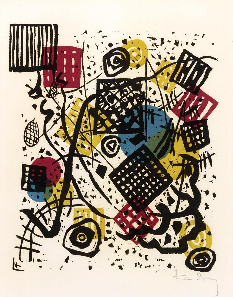 Vasily Kandinsky, Small Worlds V, Canvas, Vasily Kandinsky, kanvas tablo, canvas print sales