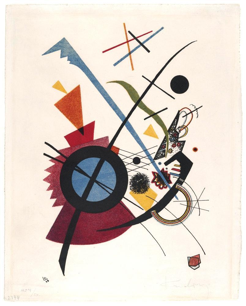 Vasily Kandinsky, Menekşe, Kanvas Tablo, Vasily Kandinsky, kanvas tablo, canvas print sales