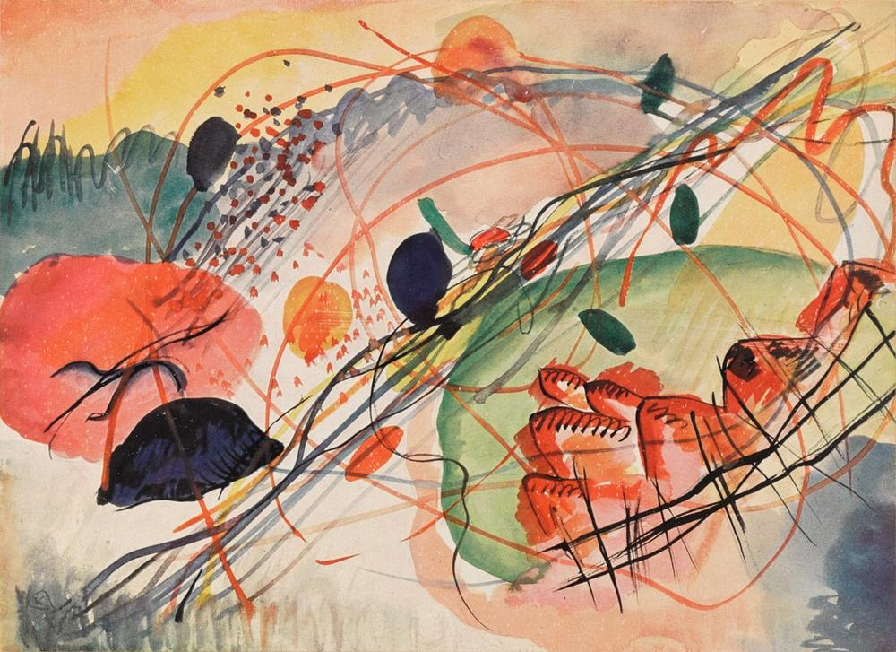 Vasily Kandinsky, Watercolor 6, Canvas, Vasily Kandinsky, kanvas tablo, canvas print sales