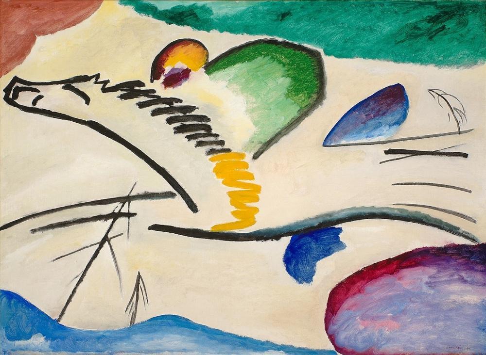 Vasily Kandinsky, Jokey, Kanvas Tablo, Vasily Kandinsky, kanvas tablo, canvas print sales