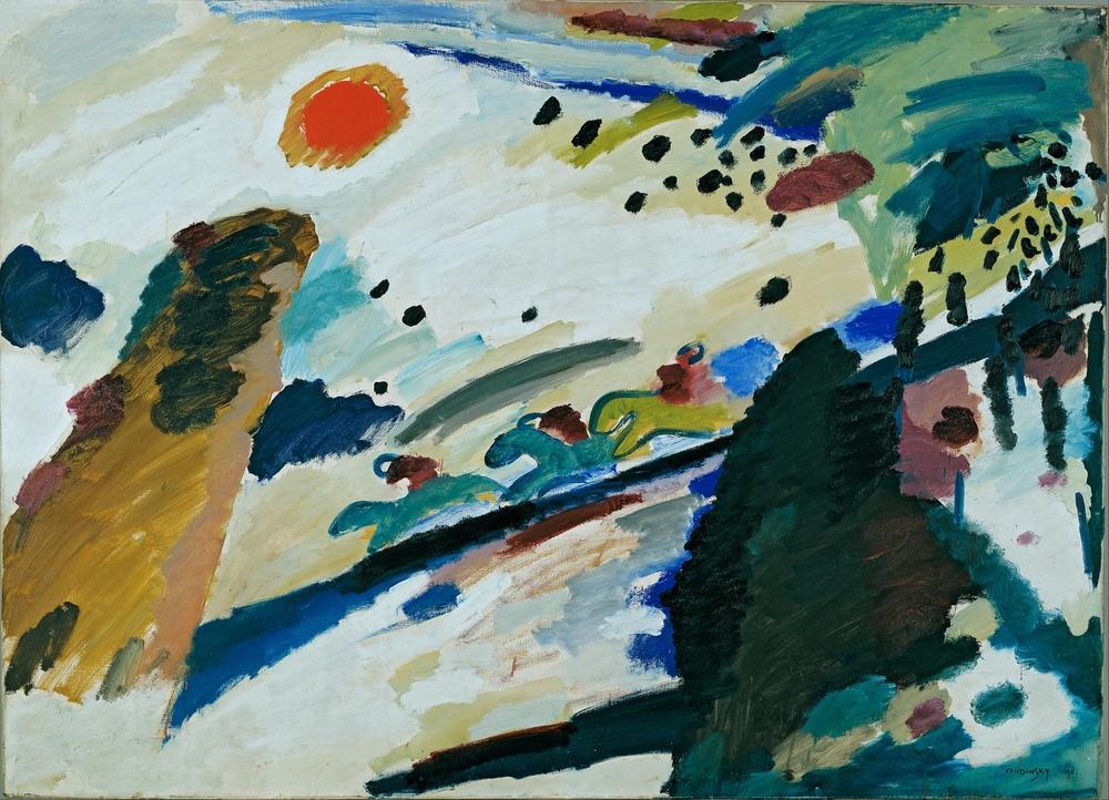 Vasily Kandinsky, Romantik Manzara, Kanvas Tablo, Vasily Kandinsky, kanvas tablo, canvas print sales