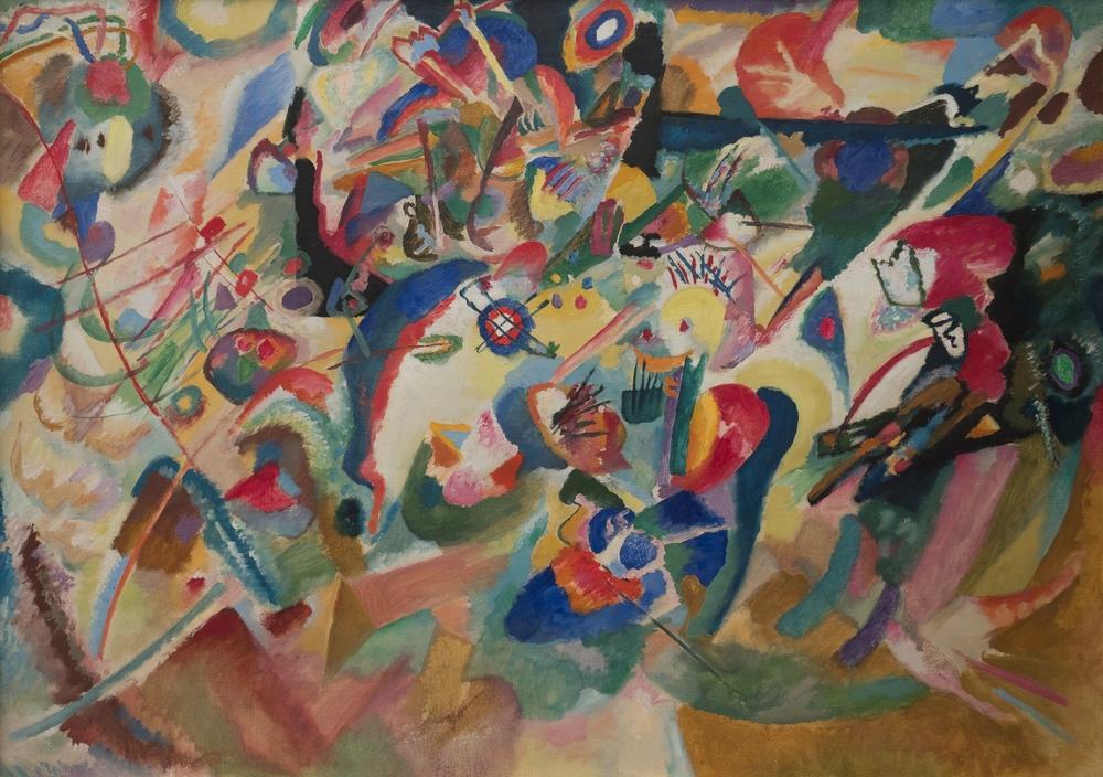Vasily Kandinsky, Entwurf 3 Kompozisyon 7, Kanvas Tablo, Vasily Kandinsky, kanvas tablo, canvas print sales