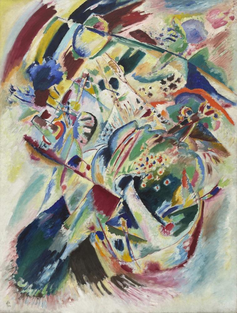 Vasily Kandinsky, Panel for Edwin R Campbell No: 4, Kanvas Tablo, Vasily Kandinsky, kanvas tablo, canvas print sales