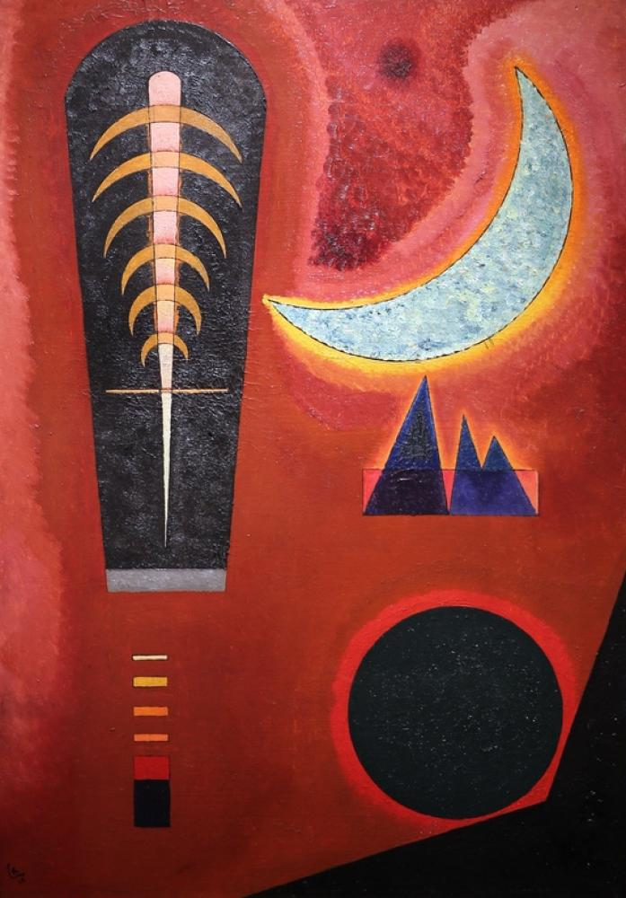 Vasily Kandinsky, Kırmızıda Kayıp, Kanvas Tablo, Vasily Kandinsky, kanvas tablo, canvas print sales