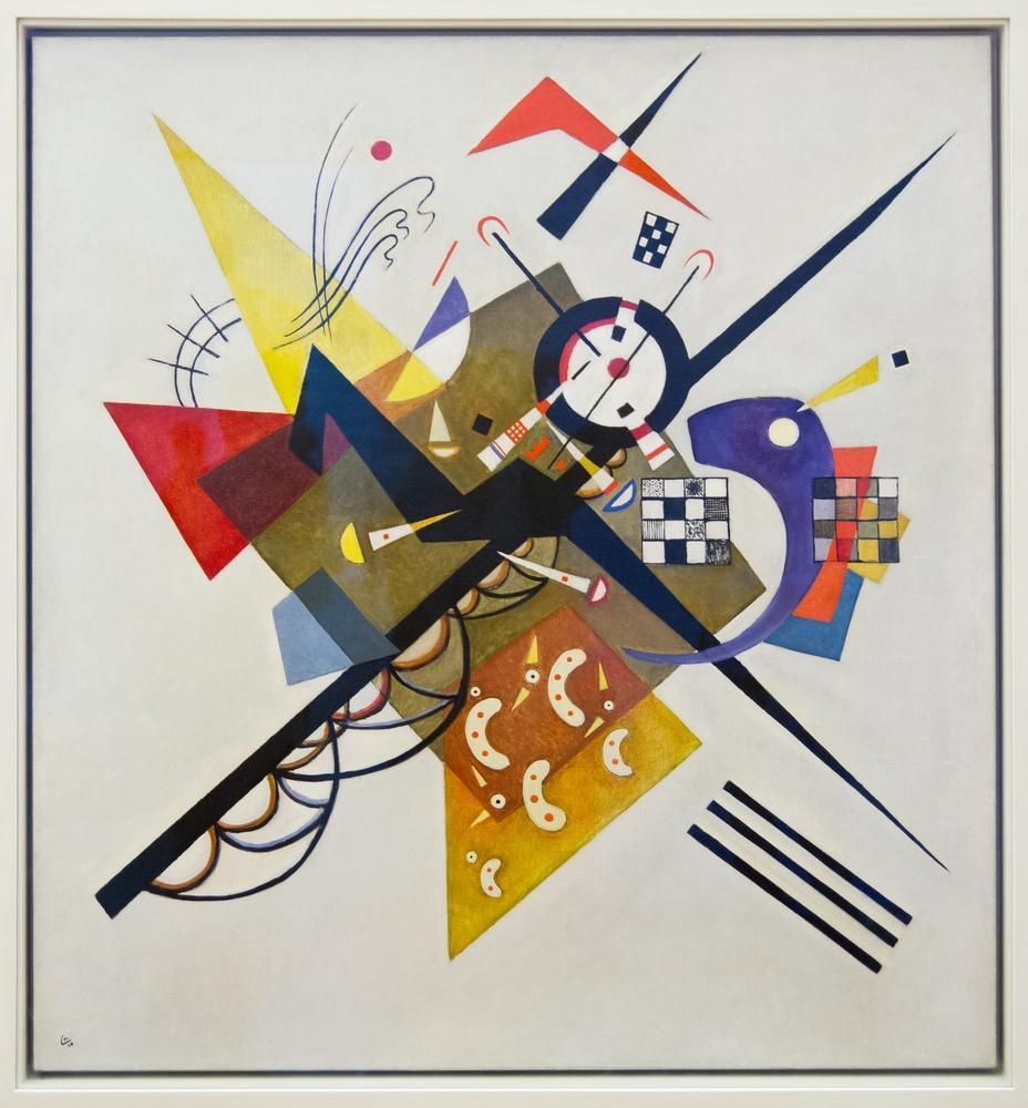 Vasily Kandinsky, Beyaz Üstüne 2, Kanvas Tablo, Vasily Kandinsky, kanvas tablo, canvas print sales