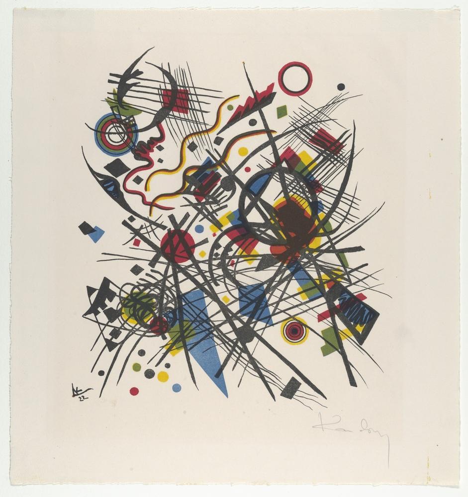 Vasily Kandinsky, Dördüncü Bauhausmappe İçin Litograf, Kanvas Tablo, Vasily Kandinsky, kanvas tablo, canvas print sales