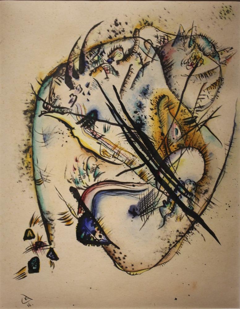 Vasily Kandinsky, Suluboya ile Yedi Vuruş, Kanvas Tablo, Vasily Kandinsky, kanvas tablo, canvas print sales