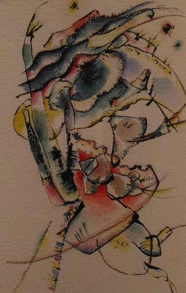 Vasily Kandinsky, Üç Renk, Kanvas Tablo, Vasily Kandinsky, kanvas tablo, canvas print sales