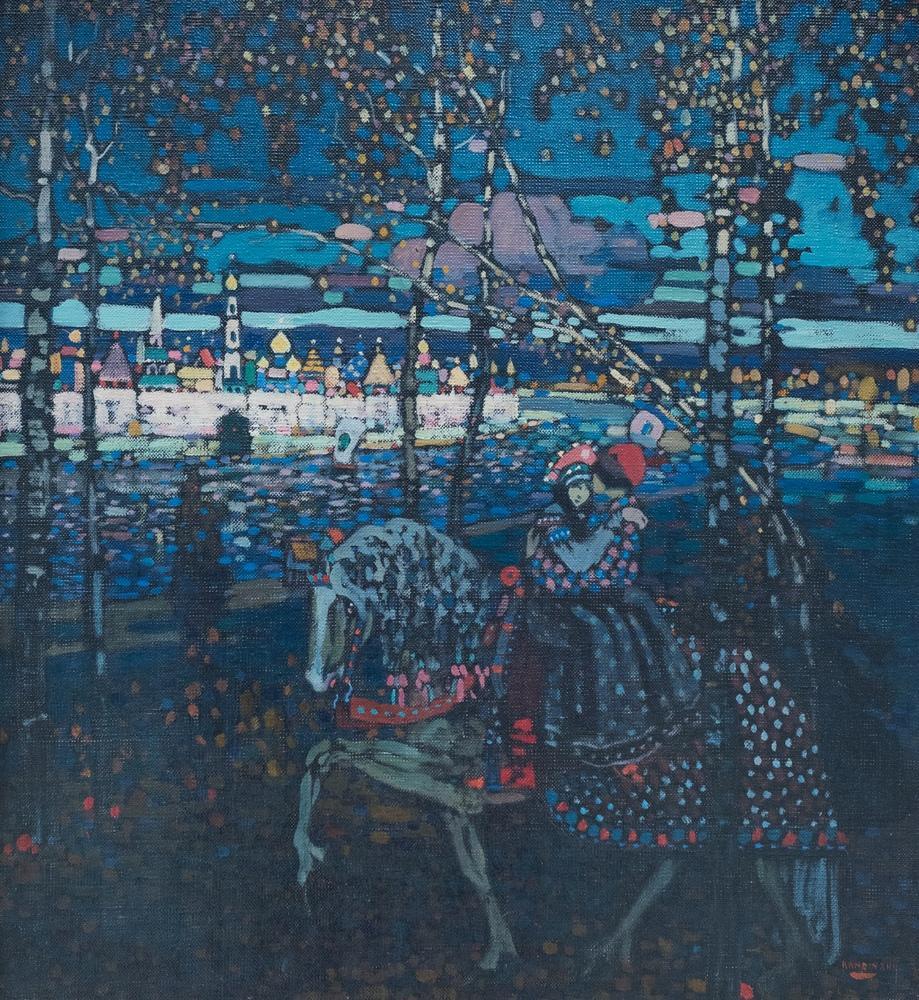 Vasily Kandinsky, Sevgillier Ata Biniyor, Kanvas Tablo, Vasily Kandinsky, kanvas tablo, canvas print sales