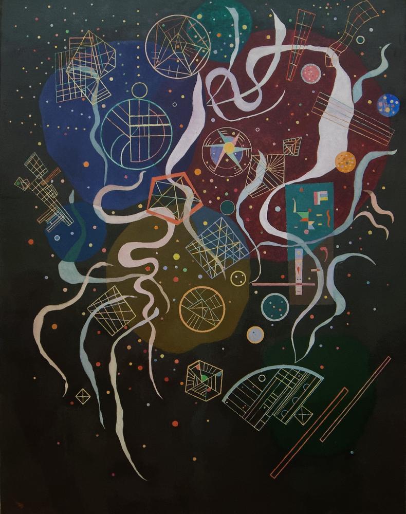 Vasily Kandinsky, Haraket 1, Kanvas Tablo, Vasily Kandinsky, kanvas tablo, canvas print sales