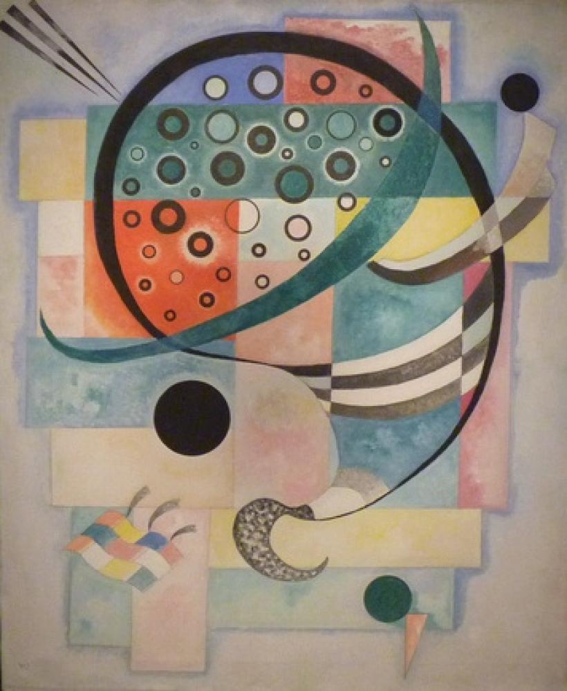 Vasily Kandinsky,  Befestigt, Kanvas Tablo, Vasily Kandinsky, kanvas tablo, canvas print sales