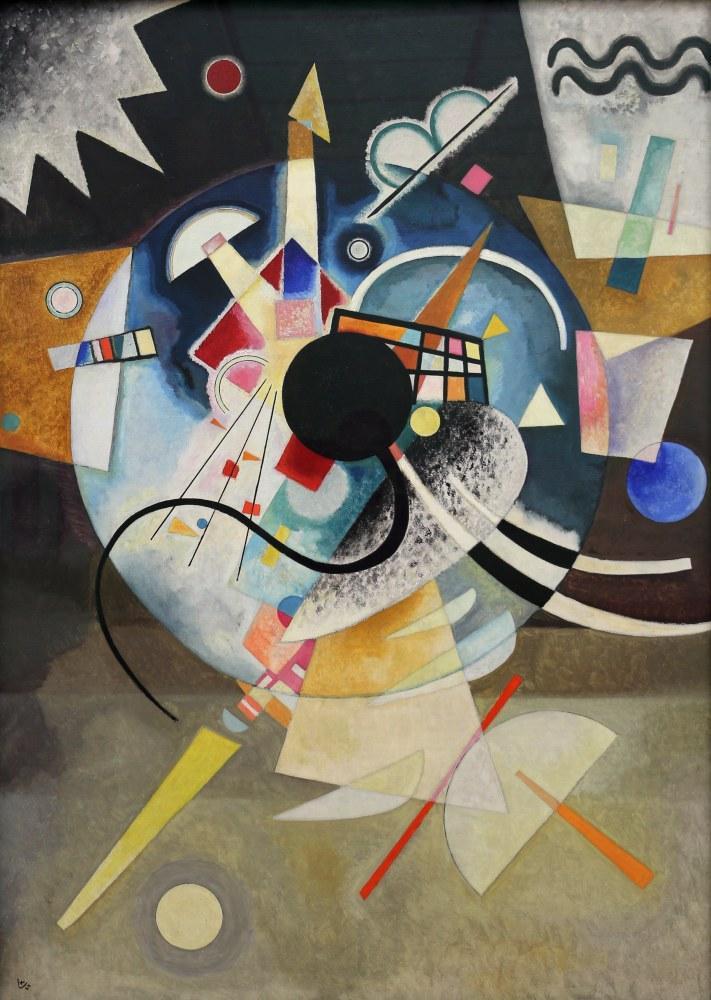 Vasily Kandinsky, Bir Merkez, Kanvas Tablo, Vasily Kandinsky, kanvas tablo, canvas print sales