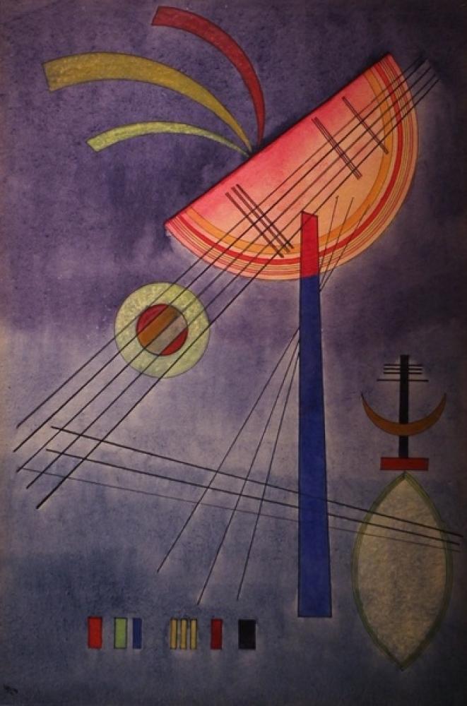 Wassily Kandinsky, Eğimli Yarım Daire, Kanvas Tablo, Vasily Kandinsky, kanvas tablo, canvas print sales