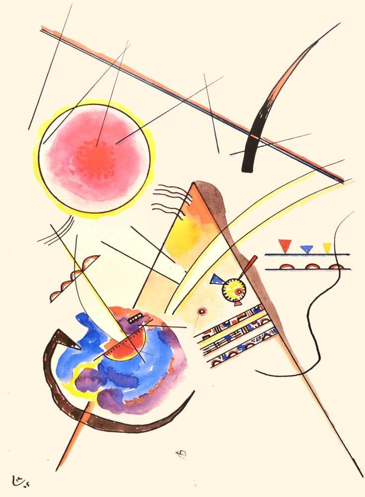 Vassily Kandinsky, Sulu Boya Kompozisyonu, Kanvas Tablo, Vasily Kandinsky, kanvas tablo, canvas print sales