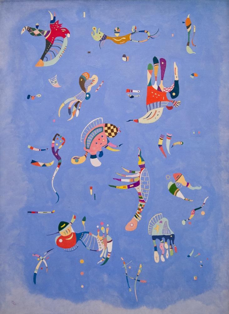 Wassily Kandinsky, Gök Mavi, Kanvas Tablo, Vasily Kandinsky, kanvas tablo, canvas print sales