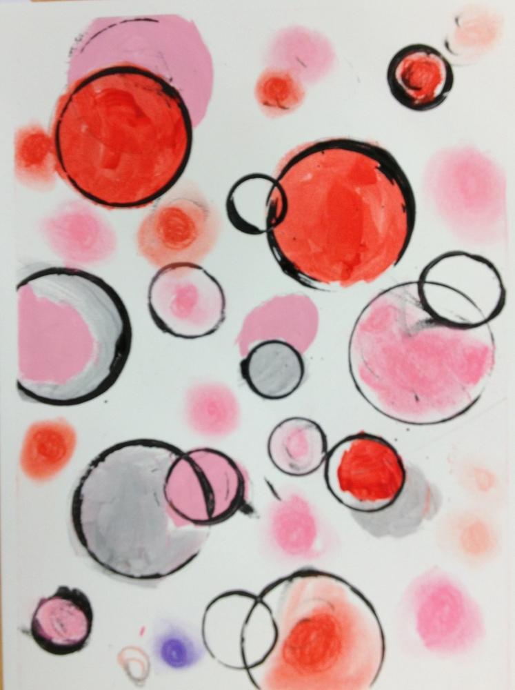 Vasily Kandinsky, Red Circles, Canvas, Vasily Kandinsky, kanvas tablo, canvas print sales