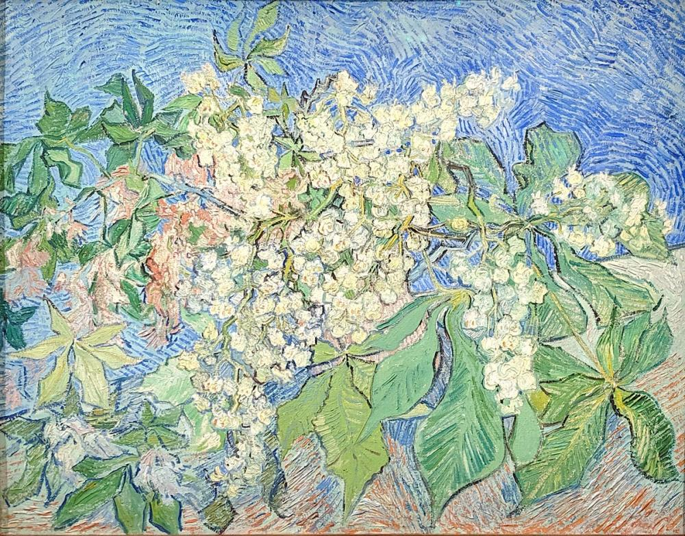 Vincent van Gogh, Blossoming Chestnut Branches, Canvas, Vincent Van Gogh, kanvas tablo, canvas print sales
