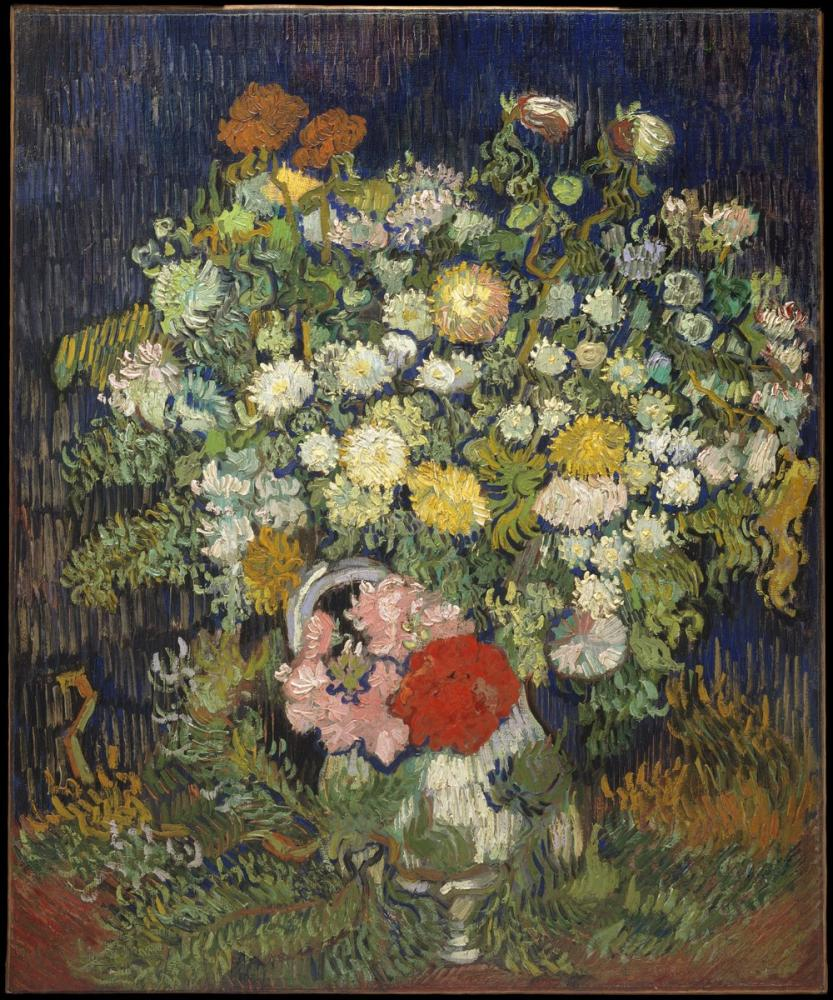 Vincent van Gogh, Bouquet of Flowers in A Vase, Canvas, Vincent Van Gogh, kanvas tablo, canvas print sales