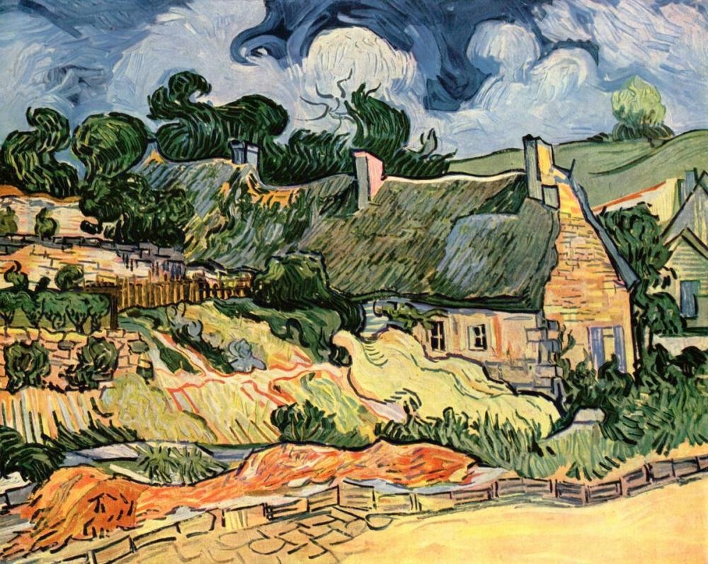 Vincent van Gogh, Chaumes de Cordeville, Canvas, Vincent Van Gogh, kanvas tablo, canvas print sales
