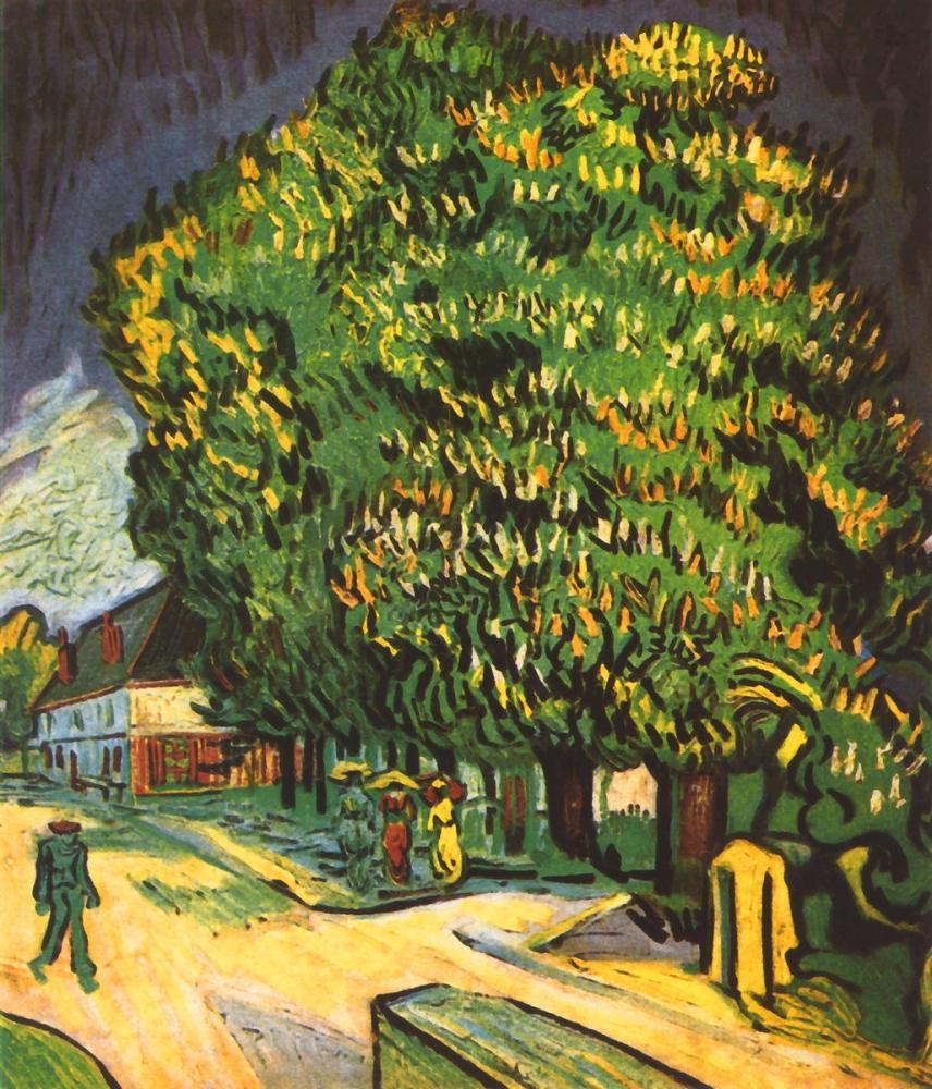 Vincent van Gogh, Çiçek Açan Kestane Ağaçları Auvers sur Oise, Kanvas Tablo, Vincent Van Gogh, kanvas tablo, canvas print sales