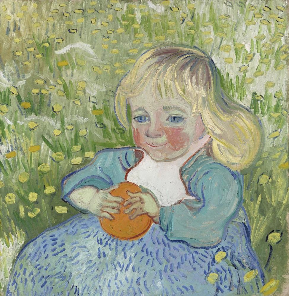 Vincent van Gogh, Child with Orange, Canvas, Vincent Van Gogh, kanvas tablo, canvas print sales