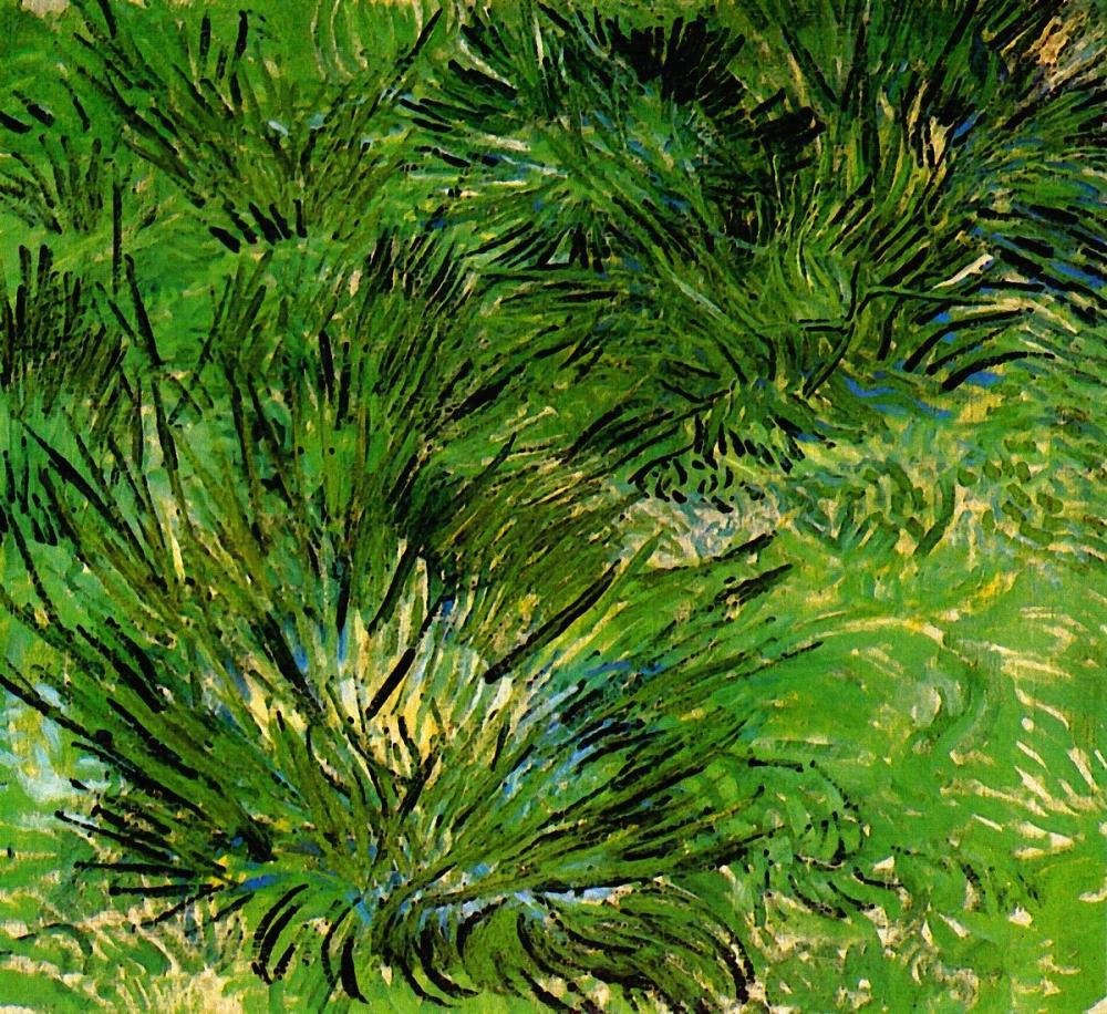 Vincent van Gogh, Clumps of Grass, Canvas, Vincent Van Gogh, kanvas tablo, canvas print sales