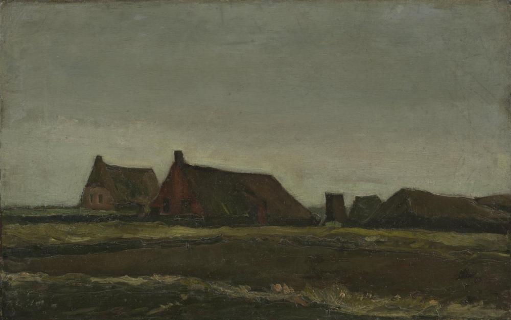 Vincent van Gogh, Cottages, Canvas, Vincent Van Gogh, kanvas tablo, canvas print sales