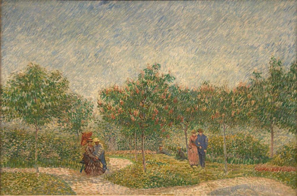 Vincent van Gogh, Flörtleşen Çiftler Bahçesi, Kanvas Tablo, Vincent Van Gogh, kanvas tablo, canvas print sales