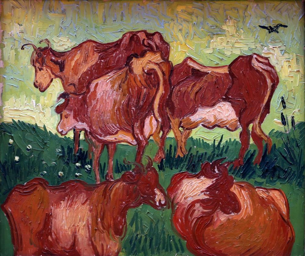 Vincent van Gogh, Cows, Canvas, Vincent Van Gogh, kanvas tablo, canvas print sales