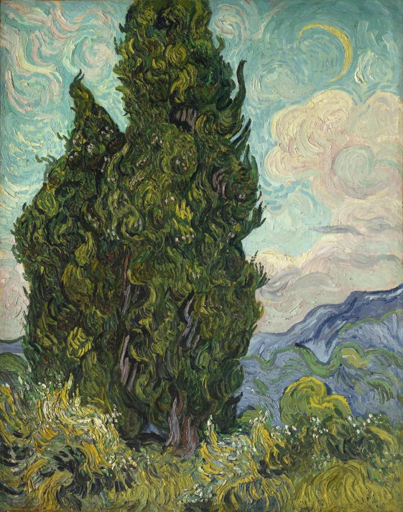 Vincent van Gogh, Selvi, Kanvas Tablo, Vincent Van Gogh, kanvas tablo, canvas print sales