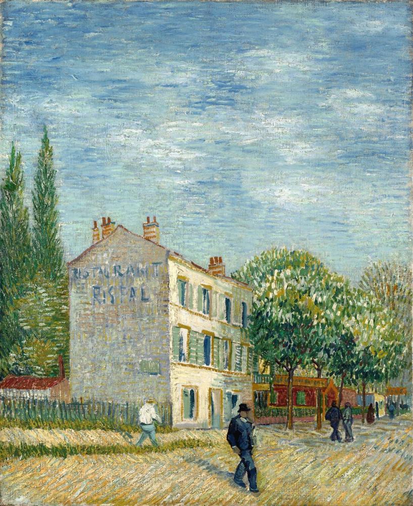 Vincent van Gogh, Das Restaurant Rispal in Asniéres, Canvas, Vincent Van Gogh, kanvas tablo, canvas print sales