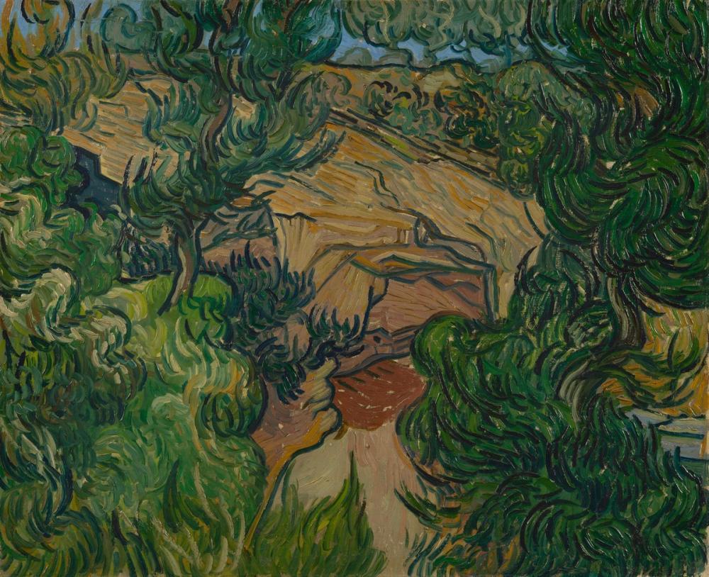 Vincent van Gogh, Bir Taş Ocağının Girişi, Kanvas Tablo, Vincent Van Gogh, kanvas tablo, canvas print sales