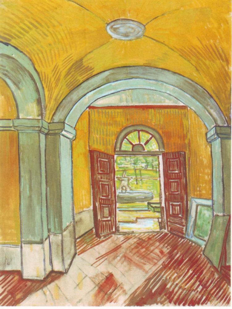 Vincent van Gogh, Entrance of the Hospital Saint Paul, Canvas, Vincent Van Gogh, kanvas tablo, canvas print sales