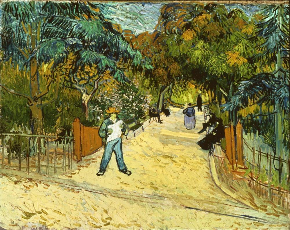 Vincent van Gogh, Arles deki Halka Açık Bahçelere Giriş, Kanvas Tablo, Vincent Van Gogh, kanvas tablo, canvas print sales