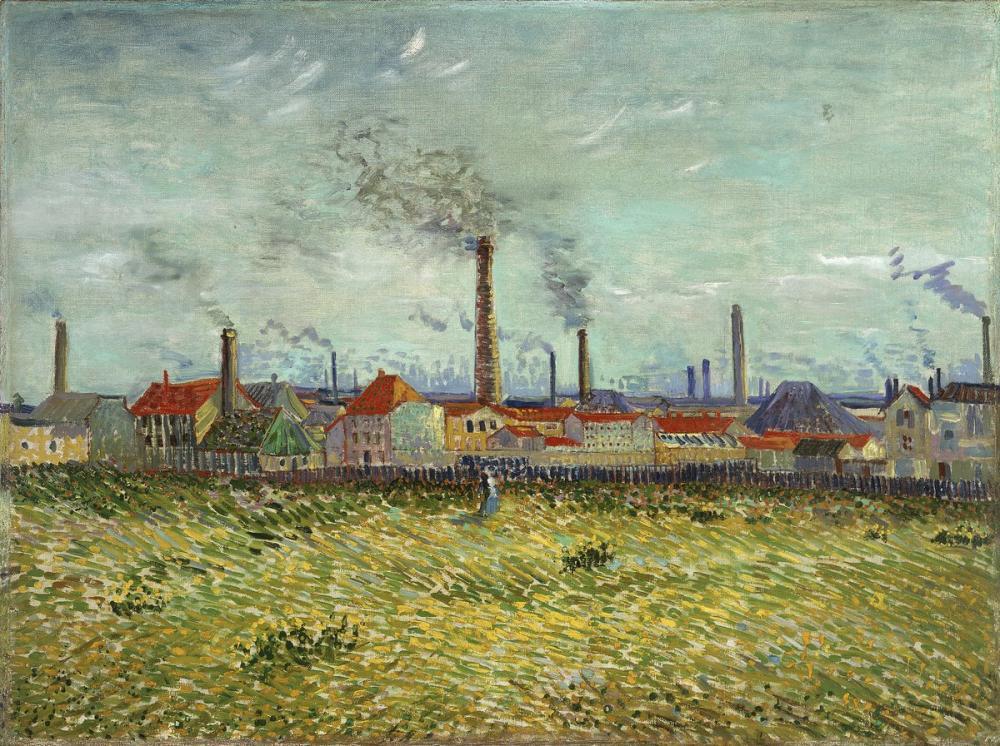 Vincent van Gogh, Factories at Asnières Seen from the Quai de Clichy, Canvas, Vincent Van Gogh, kanvas tablo, canvas print sales