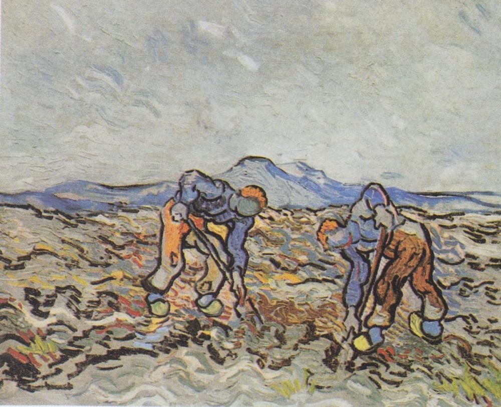 Vincent van Gogh, Patates Çiftçileri, Figür, Vincent Van Gogh, kanvas tablo, canvas print sales