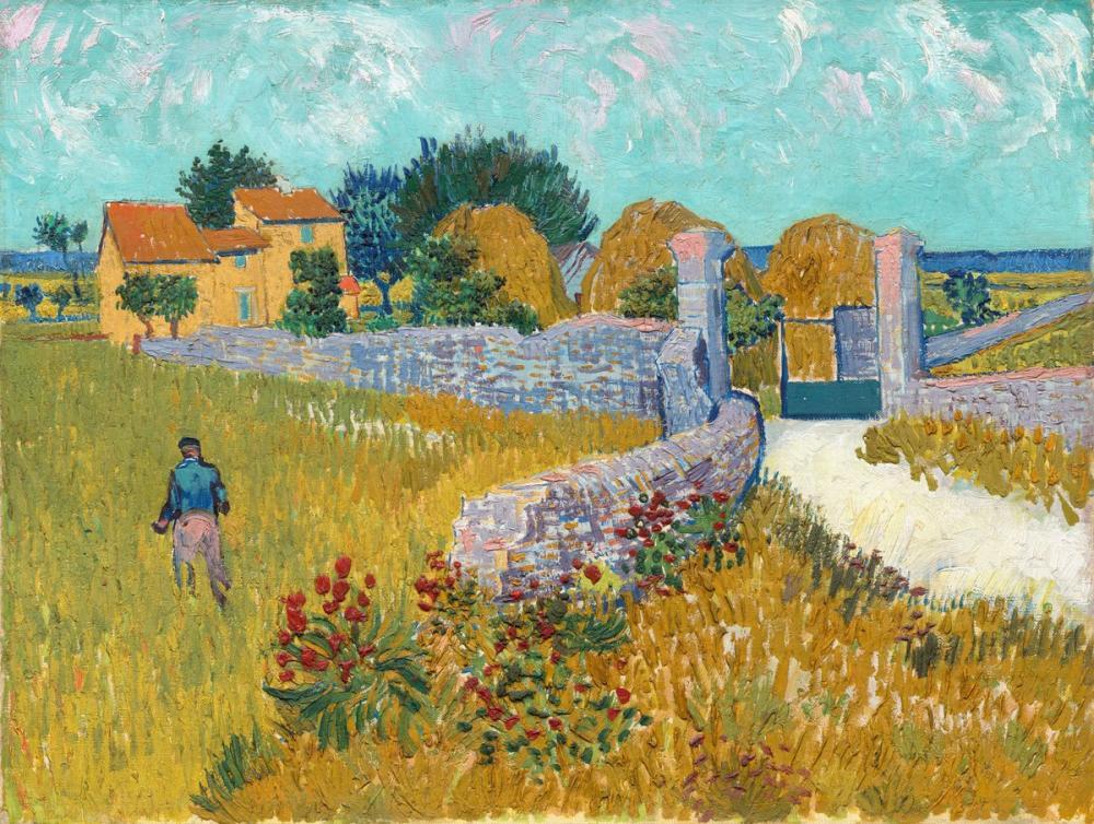 Vincent van Gogh, Farmhouse in Provence, Canvas, Vincent Van Gogh, kanvas tablo, canvas print sales