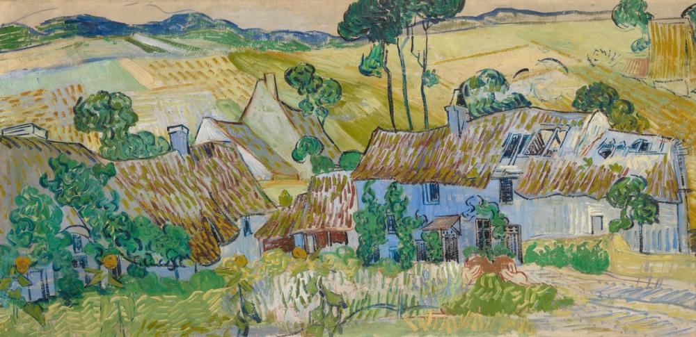 Vincent van Gogh, Farms Near Auvers, Canvas, Vincent Van Gogh, kanvas tablo, canvas print sales
