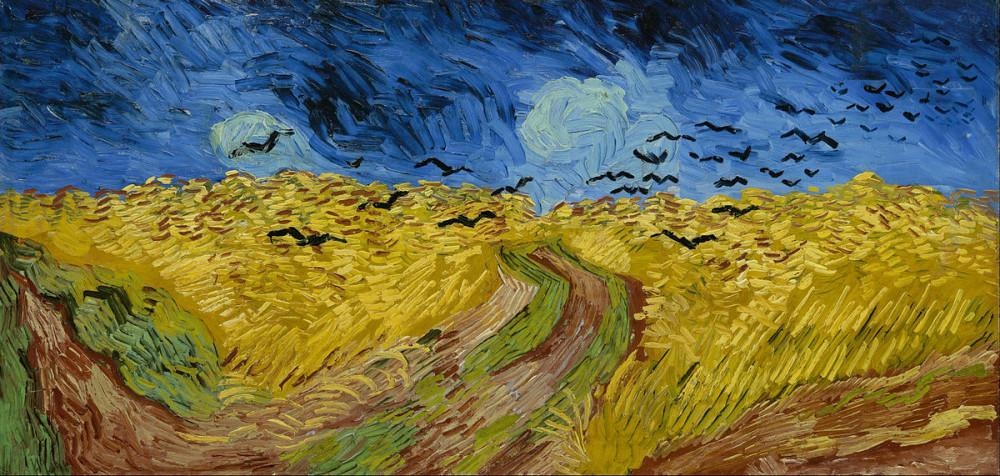 Vincent van Gogh, A Wheatfield with Crows, Canvas, Vincent Van Gogh, kanvas tablo, canvas print sales