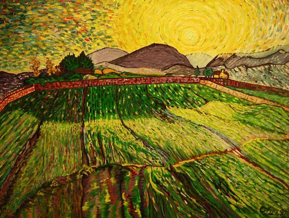 Vincent van Gogh, Fields, Canvas, Vincent Van Gogh, kanvas tablo, canvas print sales