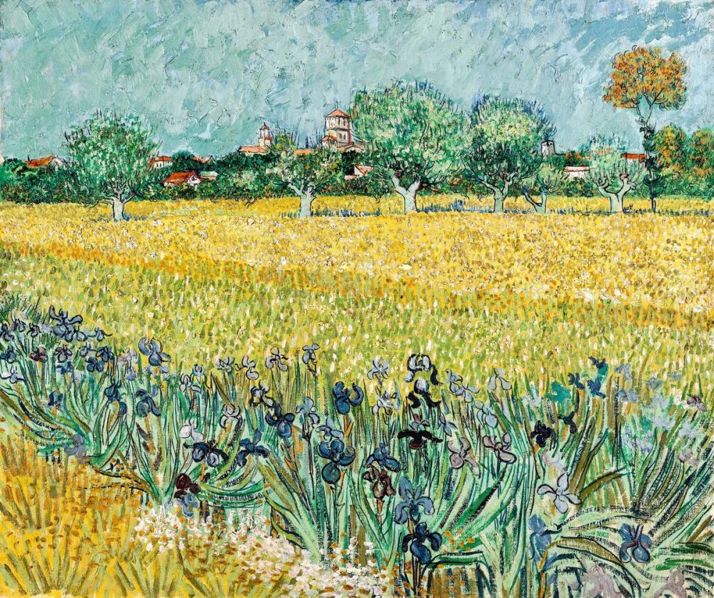 Vincent van Gogh, Arles Yakınındaki Çiçekli Alan, Kanvas Tablo, Vincent Van Gogh, kanvas tablo, canvas print sales