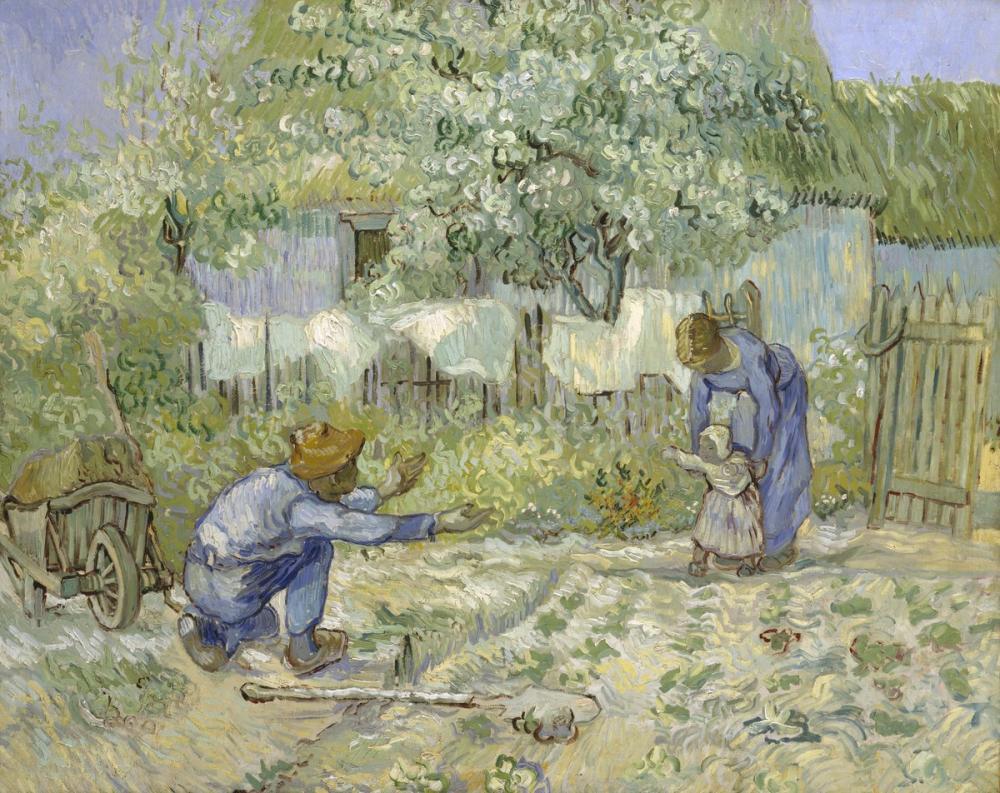 Vincent van Gogh, İlk Adımlar, Kanvas Tablo, Vincent Van Gogh, kanvas tablo, canvas print sales