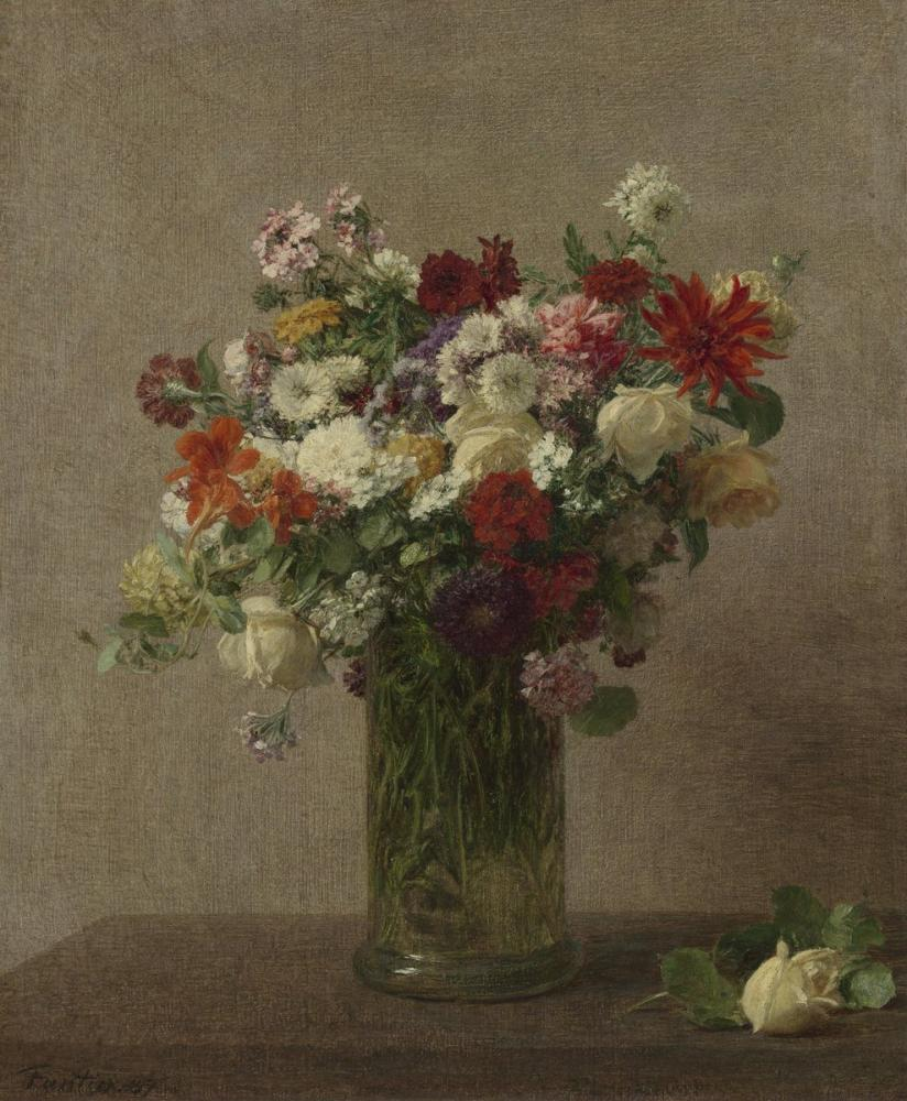 Vincent van Gogh, Normandiya dan Çiçekler, Kanvas Tablo, Vincent Van Gogh, kanvas tablo, canvas print sales