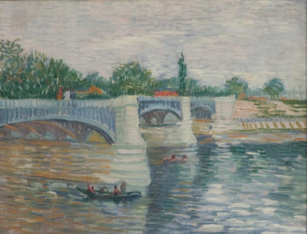 Vincent van Gogh, From the Seine puts Pont de la Grande Jatte, Canvas, Vincent Van Gogh, kanvas tablo, canvas print sales