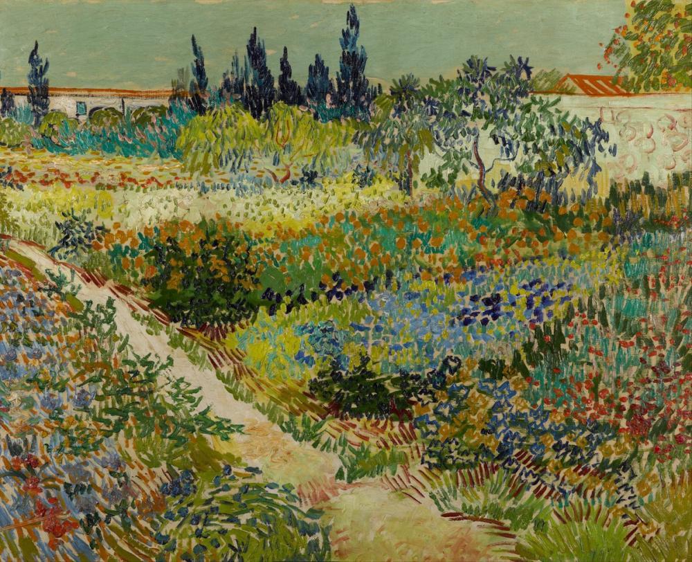 Vincent van Gogh, Garden at Arles, Canvas, Vincent Van Gogh, kanvas tablo, canvas print sales