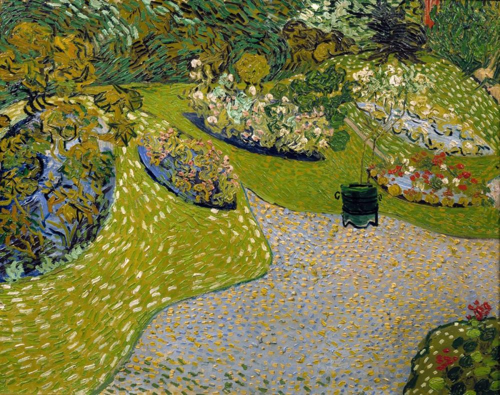 Vincent van Gogh, Garden in Auvers, Canvas, Vincent Van Gogh, kanvas tablo, canvas print sales