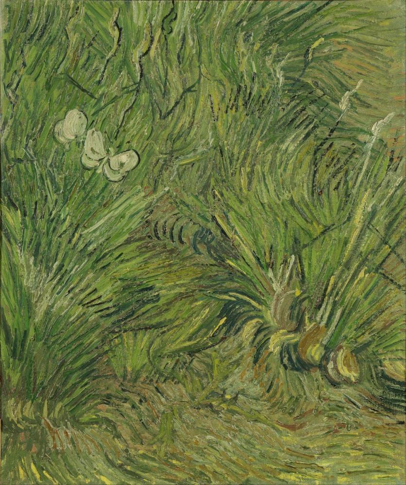 Vincent van Gogh, Garden with Butterflies, Canvas, Vincent Van Gogh, kanvas tablo, canvas print sales