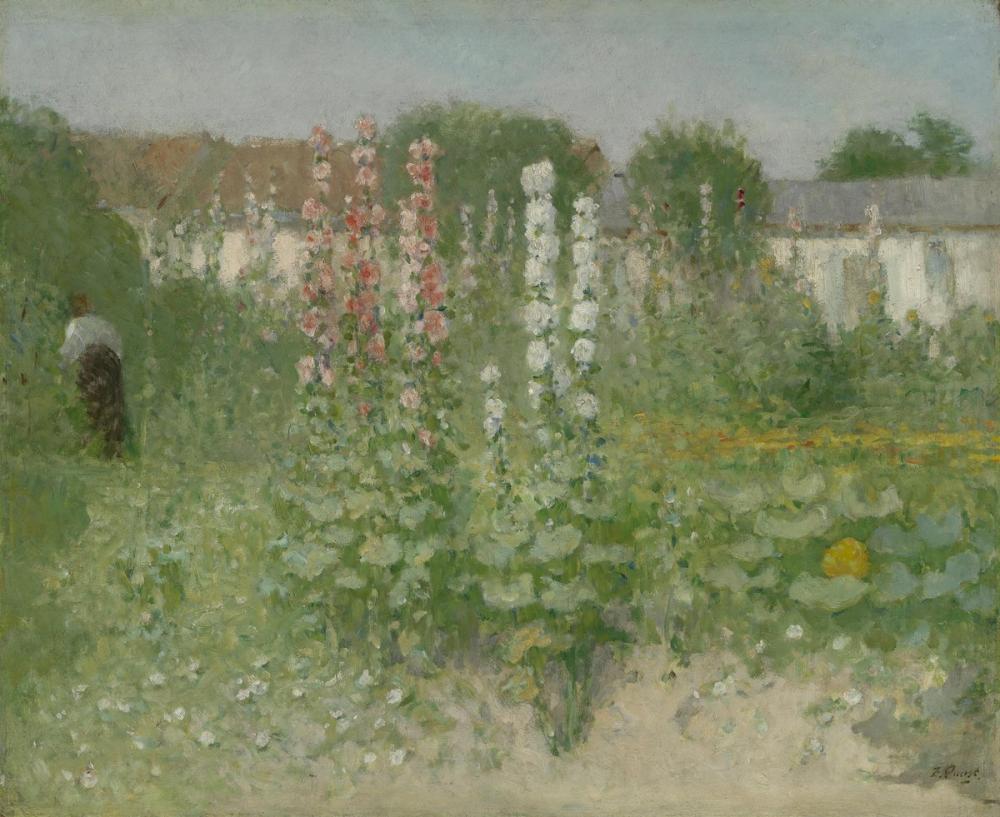 Vincent van Gogh, Garden with Hollyhocks, Canvas, Vincent Van Gogh, kanvas tablo, canvas print sales