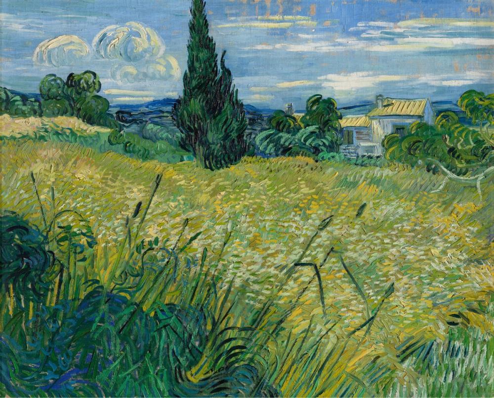 Vincent van Gogh, Selvi Yeşil Buğday Tarlası, Kanvas Tablo, Vincent Van Gogh, kanvas tablo, canvas print sales